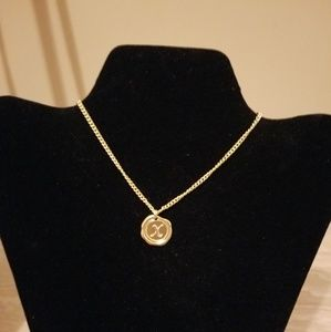 Gold Necklace with Initial X Charm